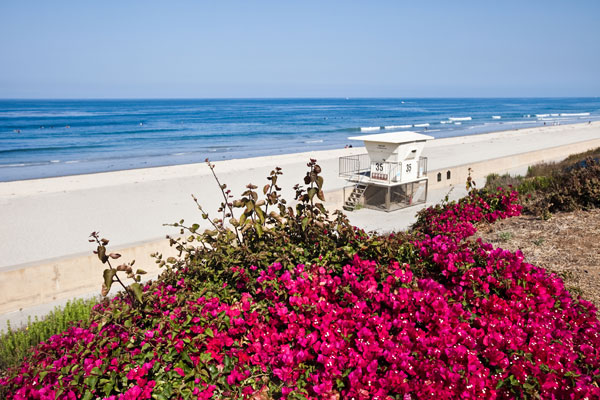 Carlsbad State Beach in Carlsbad, California.