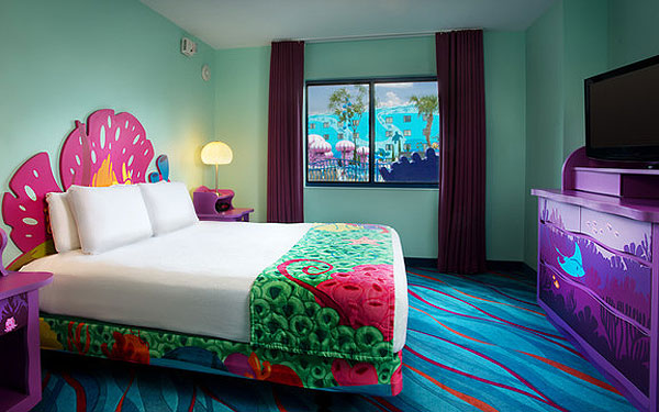'The Little Mermaid' room at Disney's Art of Animation Resort in Orlando.