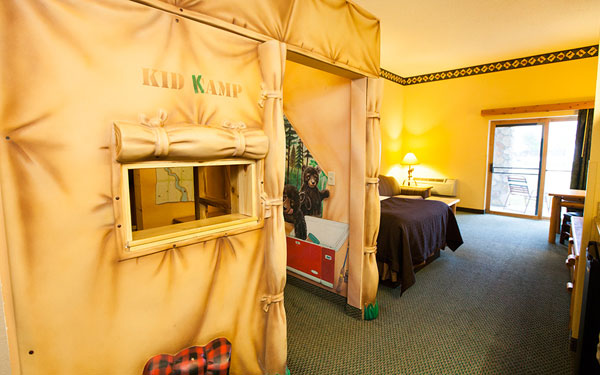 The KidKamp Suite at all Great Wolf Lodge locations.
