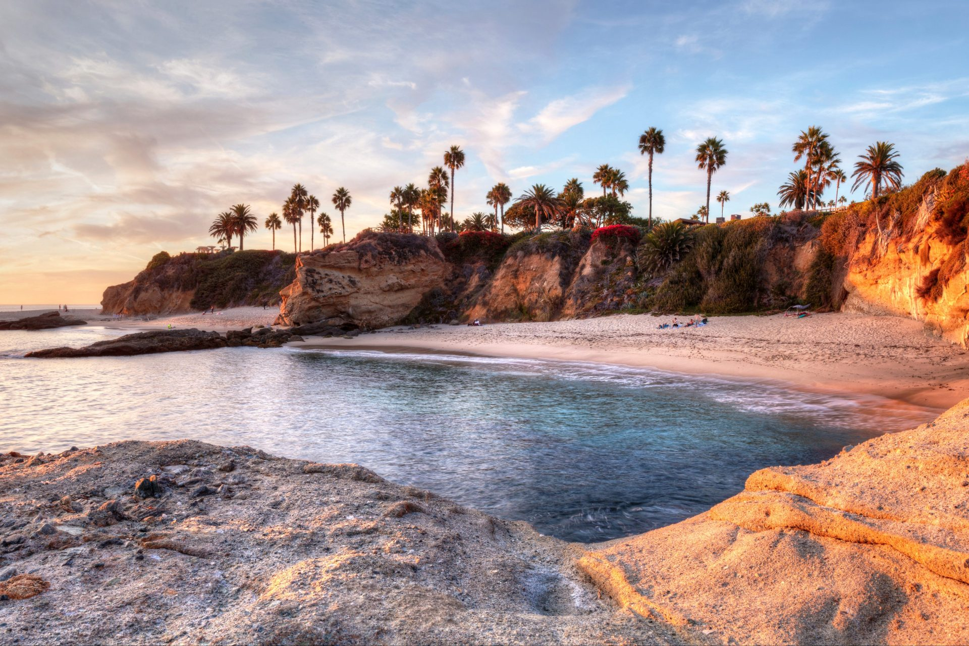 Sunset view of Treasure Island Beach at the Montage in Laguna Beach, California