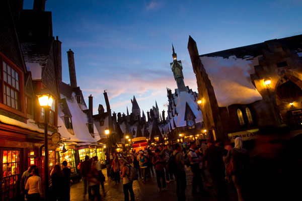 Hogsmeade at The Wizarding World of Harry Potter in Orlando, Florida.