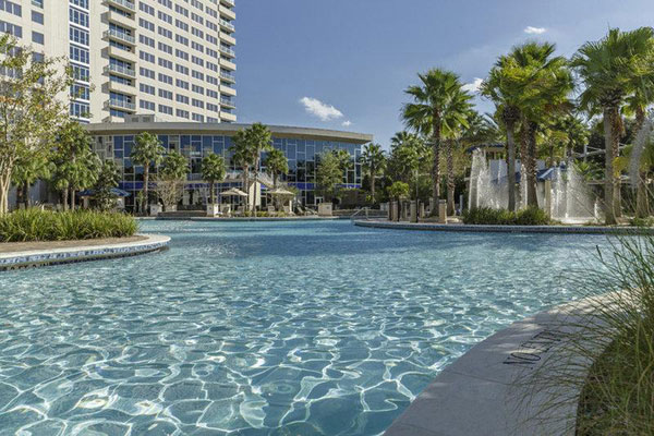 The pool area at the Hyatt Regency Orlando.