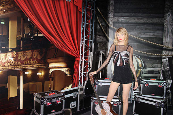 The Taylor Swift wax figure at Madame Tussauds Orlando.