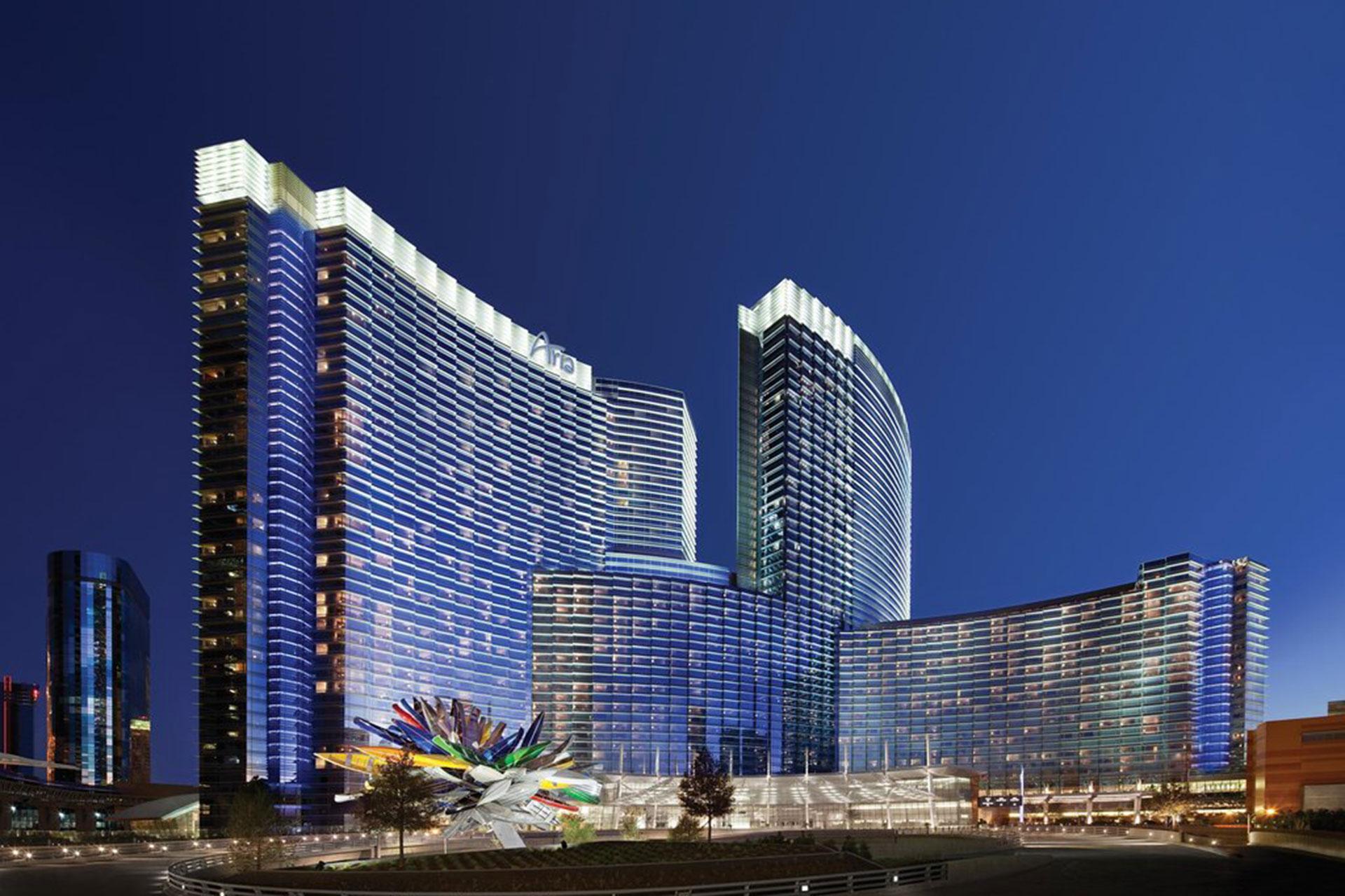 Exterior of ARIA Sky Suites in Las Vegas