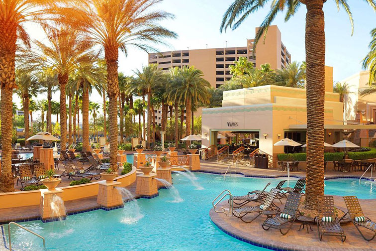 Pool at Hilton Grand Vacations on the Las Vegas Strip