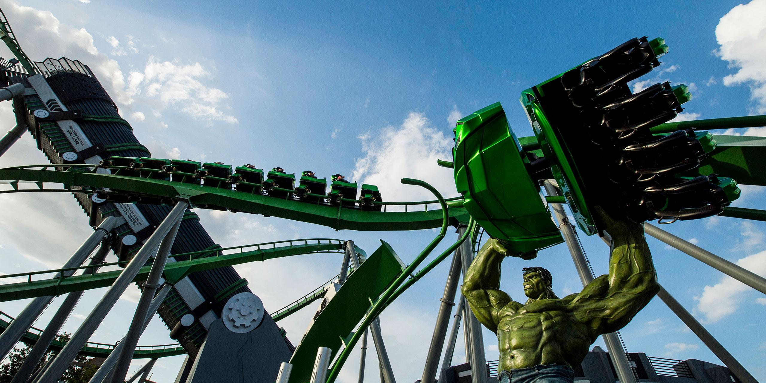 The Incredible Hulk Coaster at Universal Orlando Resort; Courtesy of Universal Orlando Resort