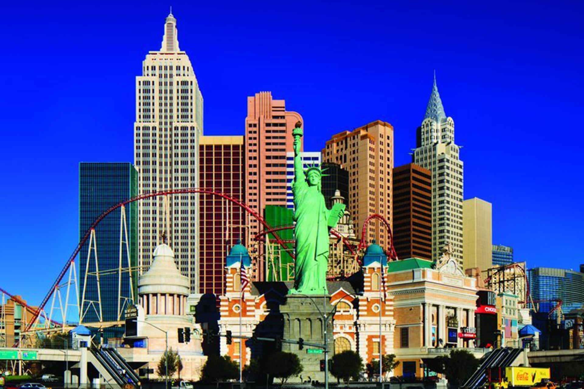 Exterior of New York-New York Hotel and Casino in Las Vegas