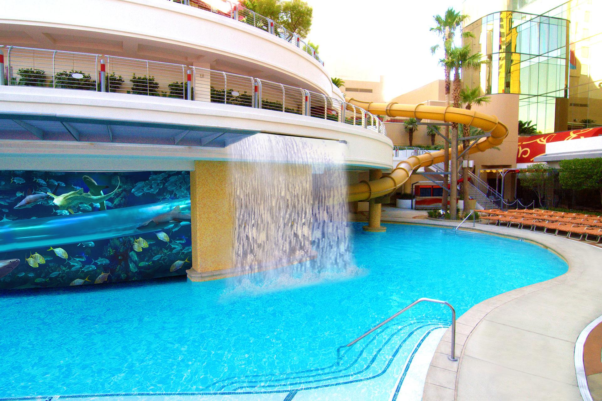 Pool at Golden Nugget Hotel in Las Vegas