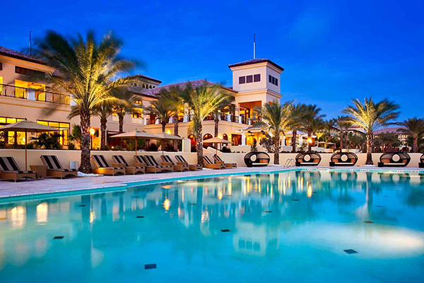 The pool at The Santa Barbara Beach & Golf Resort Curacao.