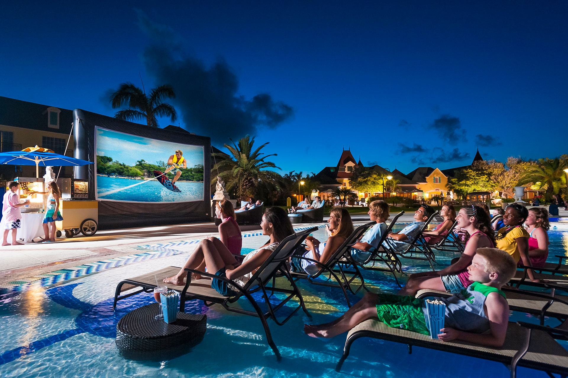 Dive-In Movies at Beaches Turks and Caicos; Courtesy of Beaches Turks and Caicos