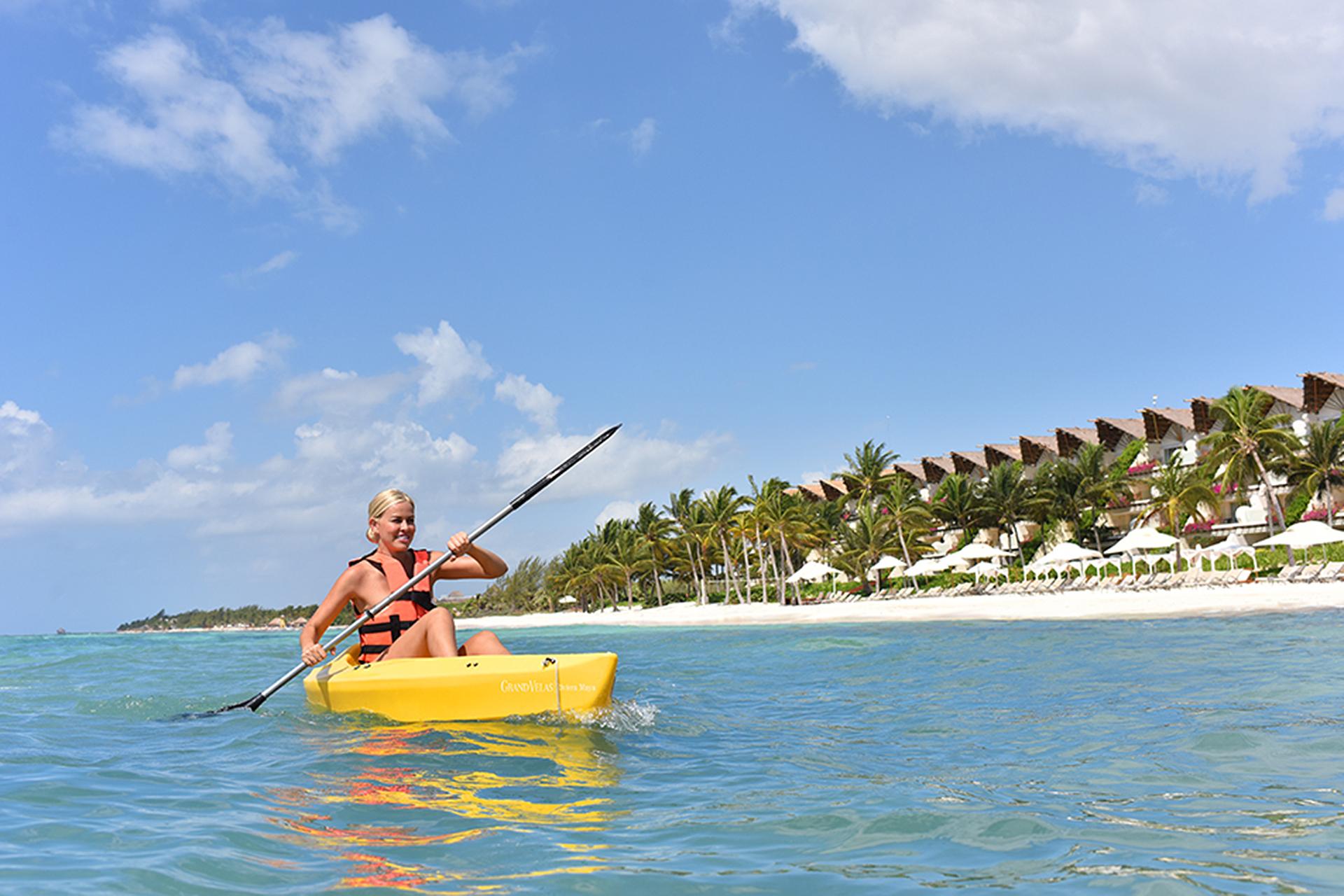 Kayaking at Grand Velas Riviera Maya; Courtesy of Grand Velas Riviera Maya