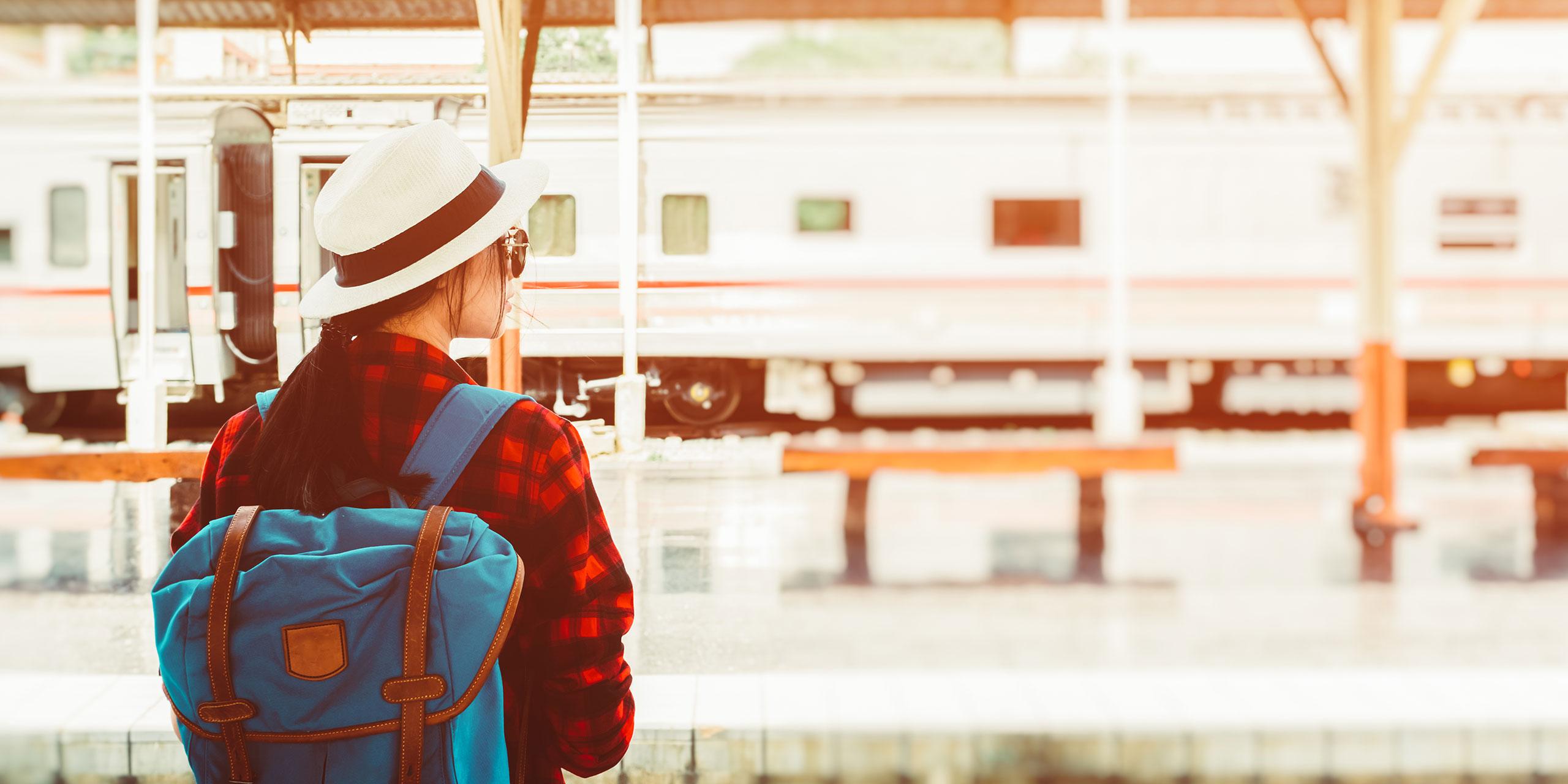 Teenage Girl Waiting for Train; Courtesy of Eakachai Leesin/Shutterstock.com