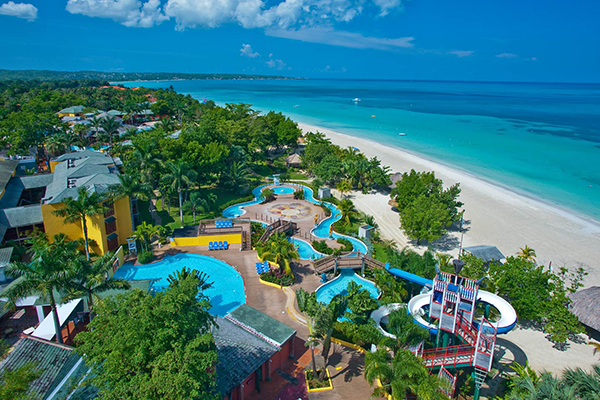 The water park at Beaches Negril Resort & Spa.