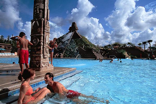 The pool at Disney's Coronado Springs Resort.
