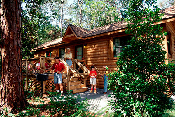 A cabin at Disney's Fort Wilderness Resort and Campground.