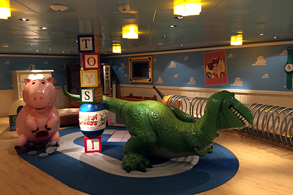 Andy's Room Kids' Area aboard Disney Dream.
