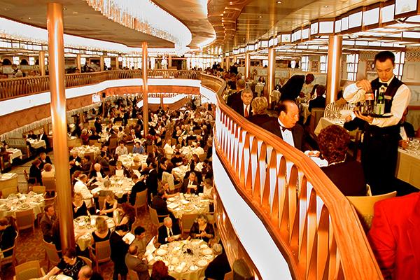 Normandie Restaurant onboard Carnival Pride.