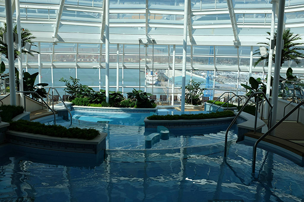 The Solarium aboard Anthem of the Seas.