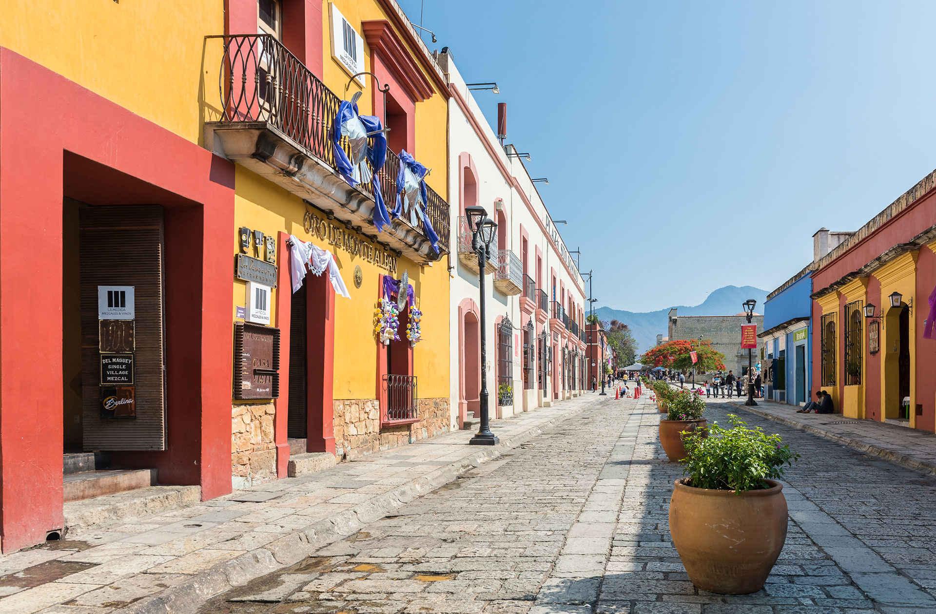 Street scene in Oaxaca; Photo Courtesy of Angelina Pilarinos /Shutterstock.com