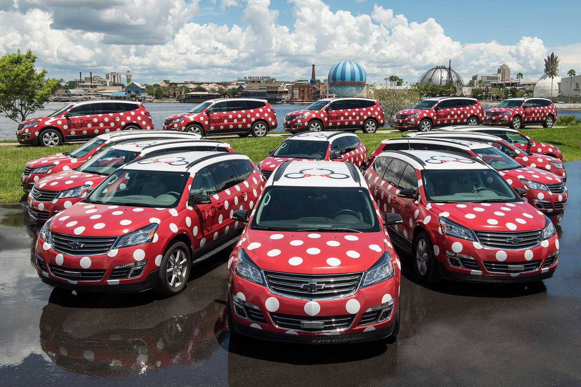 Minnie Van transportation service at Disney World in Florida.
