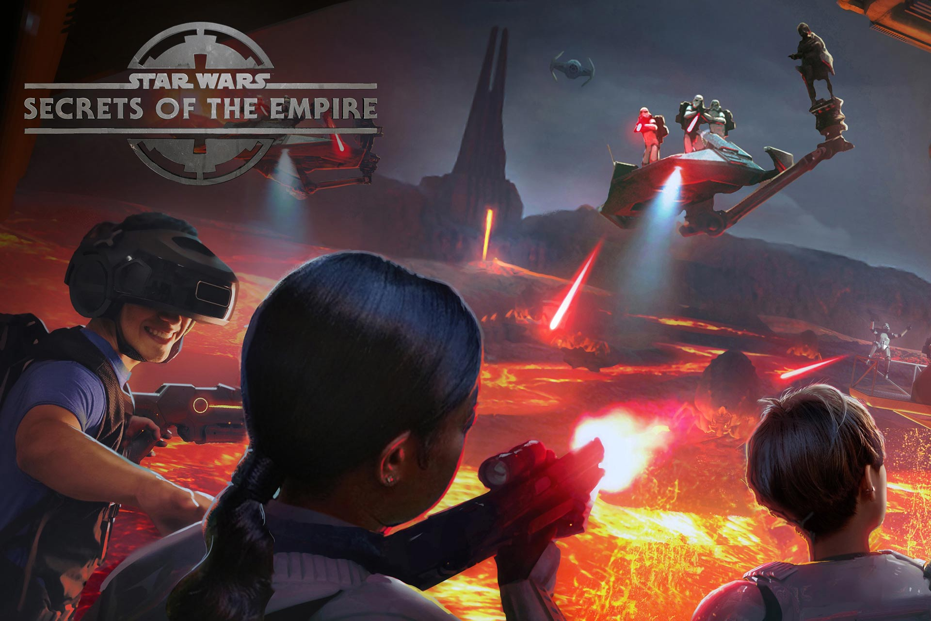 Star Wars: Secrets of the Empire Virtual Reality Experience at Disney Springs.