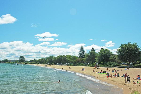 Clinch Beach in Traverse City, Michigan.