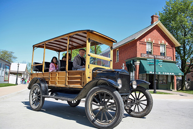 Greenfield Village at The Henry Ford in Dearborn; Courtesy of Bill Bowen for Visit Detroit