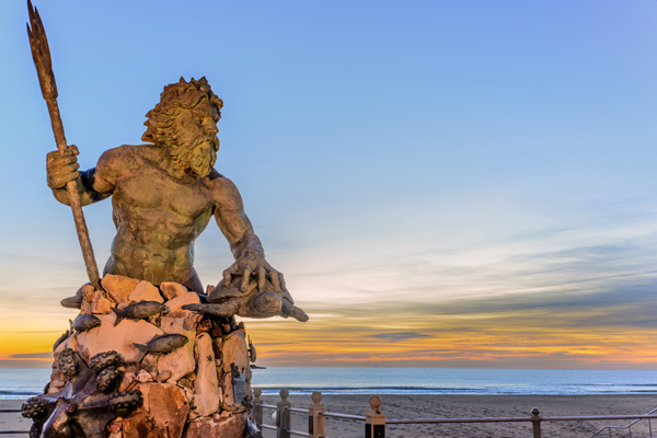 King Neptune statue at Virginia Beach.