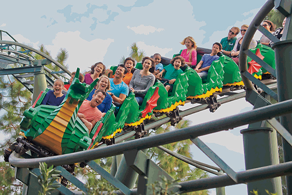 The Dragon Coaster at LEGOLAND California Resort.