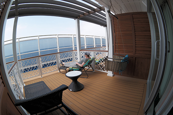 Havana Suites and lounge onboard Carnival Vista.