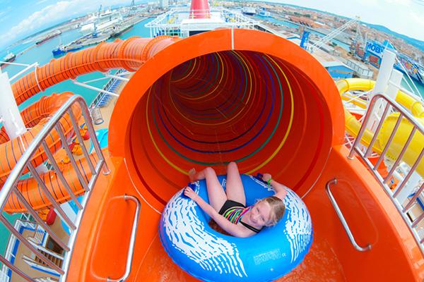Kaleid-O-Slide onboard Carnival Vista.