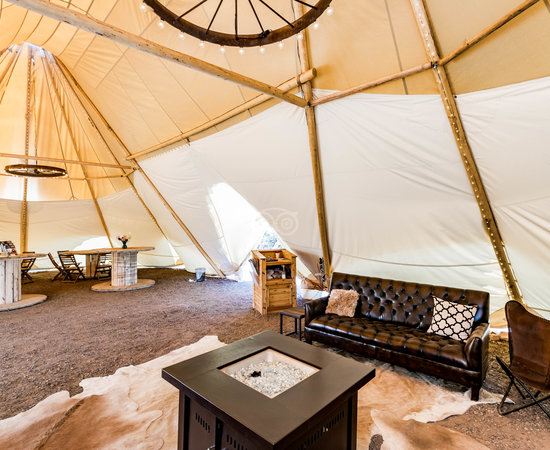 Lobby at the Moab Under Canvas