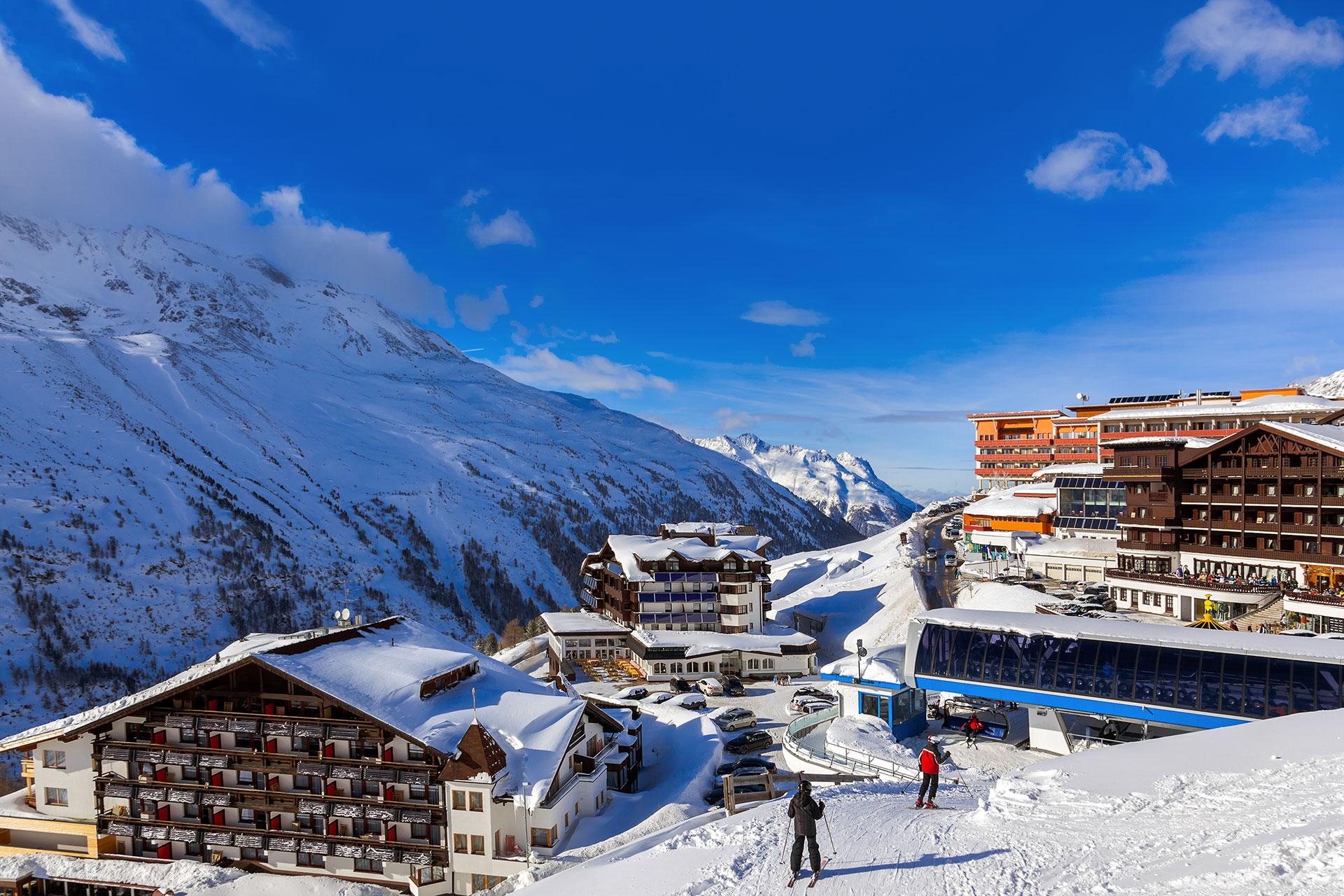 Skiers at Obergurgl-Hochgurgl; Courtesy of Tatiana Popova/Shutterstock.com