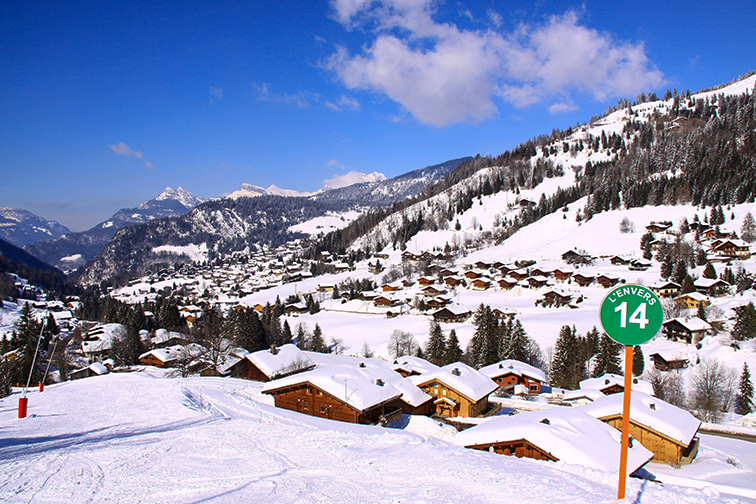 view of the valley of la clusaz in the alps france: Courtesy of fggato/Shutterstock