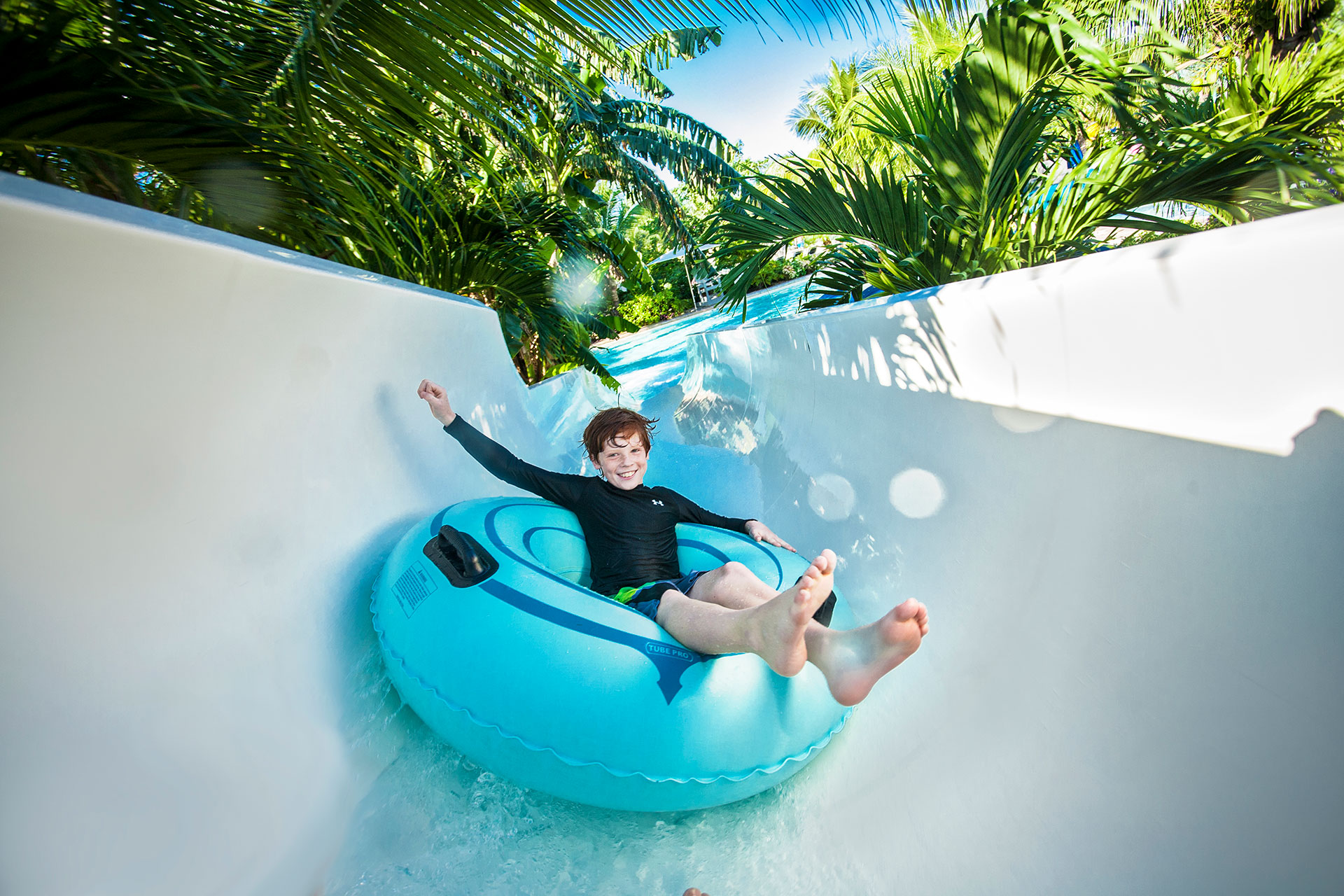 Boy on Waterslide at Beaches Turks and Caicos; Courtesy of Beaches Turks and Caicos