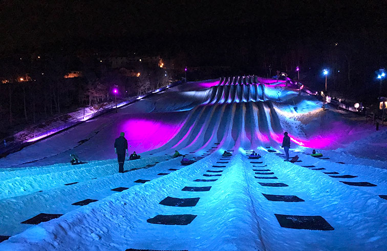 Northern Lights Tubing at Massanutten Resort in McGaheysville, VA