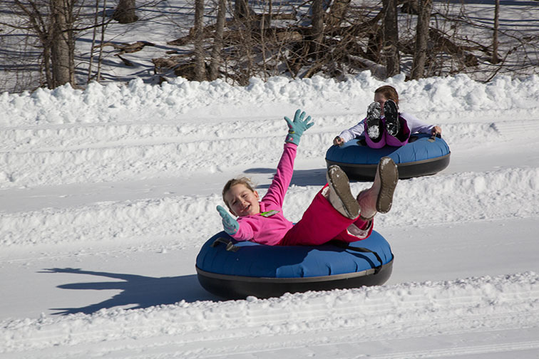 Snowtubing at Omni Homestead Resort in Virginia