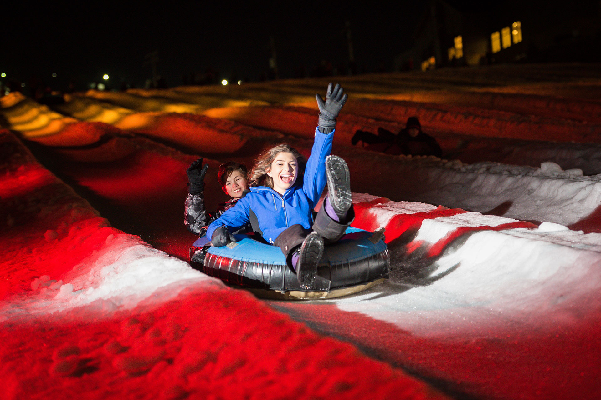 Snow Tubing at Camelback Mountain Resort in the Poconos