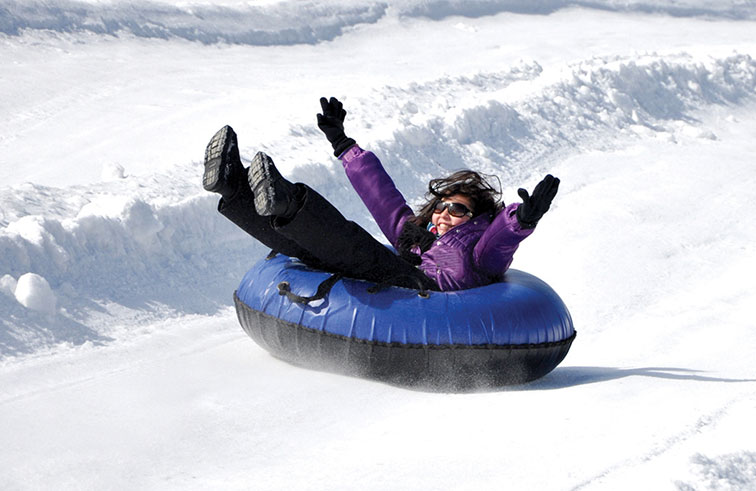 Winter Snow Tubing at Rocking Horse Ranch Resort in Highland, NY