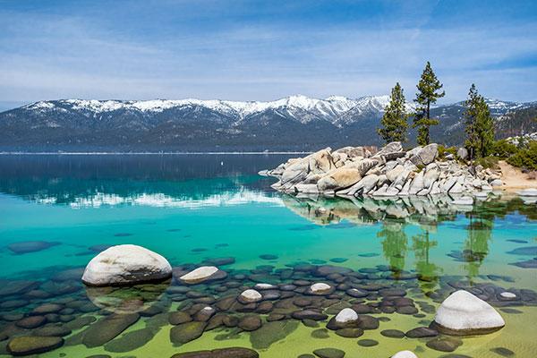 Sand Harbor Beach in Lake Tahoe, California.