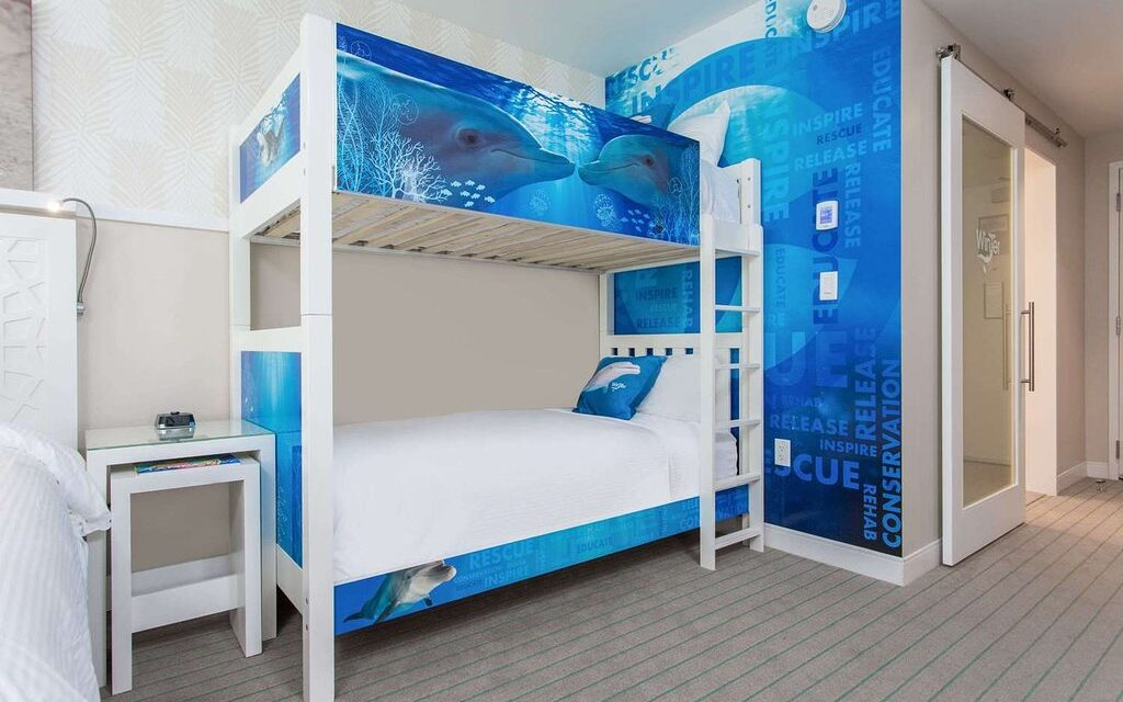 Themed guestroom at the Wyndham Grand Clearwater Beach; Courtesy of Wyndham Grand Clearwater Beach