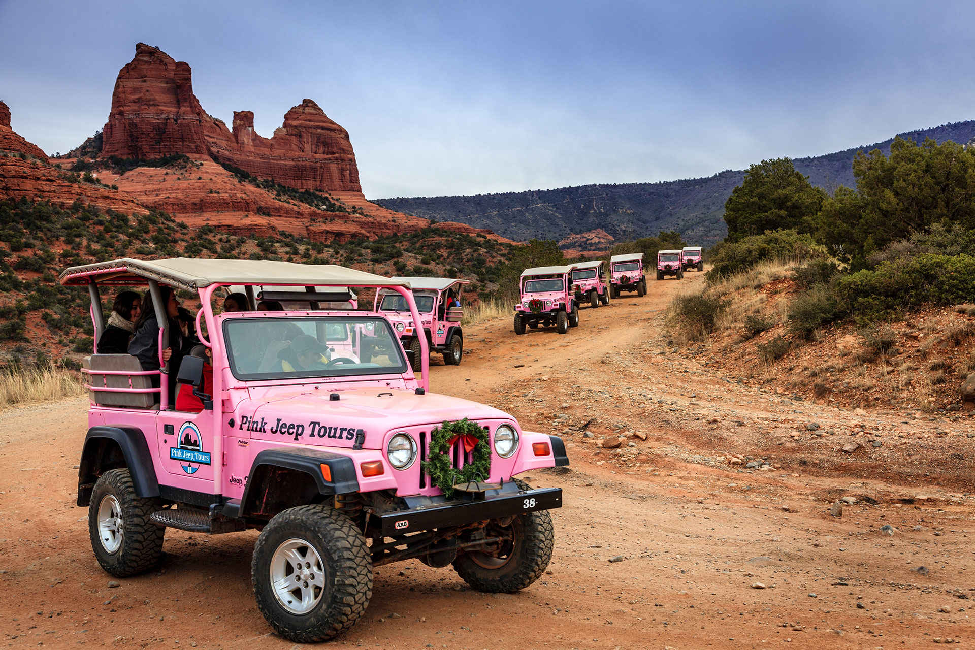 Pink Jeep Tours; Courtesy of Alexey Stiop/Shutterstock.com