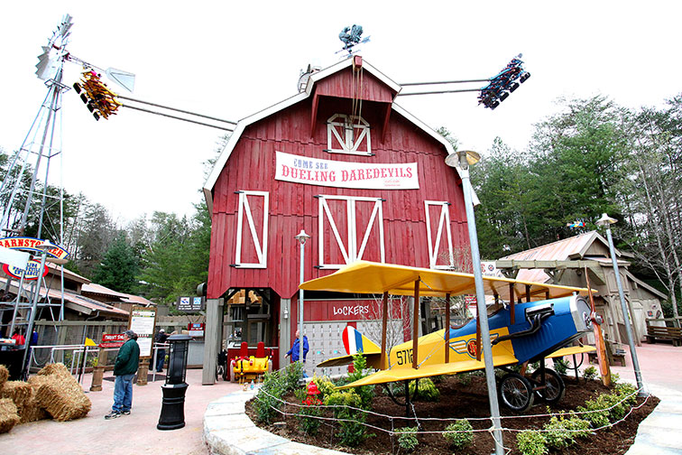 Barnstormer at Dollywood in Pigeon Forge, Tennessee