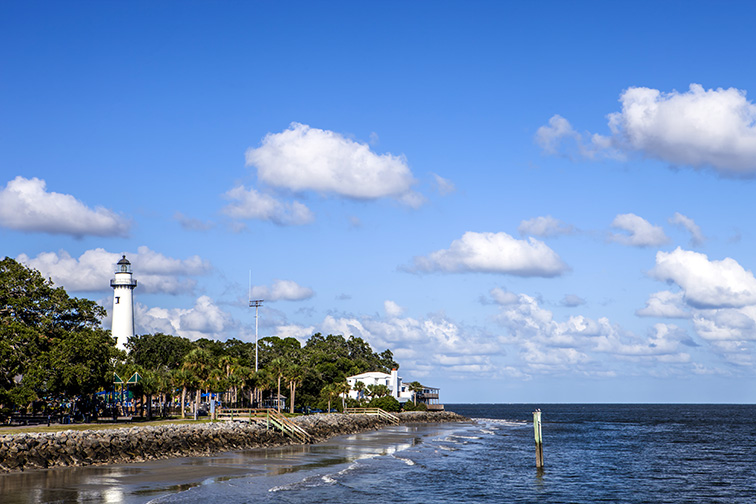 St. Simon's Island in Georgia; Courtesy CE Photography/Shutterstock