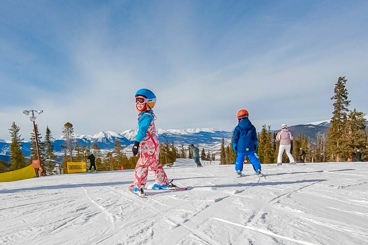 Keystone, Colorado toddler skiing; Courtesy Arina P Habich/Shutterstock