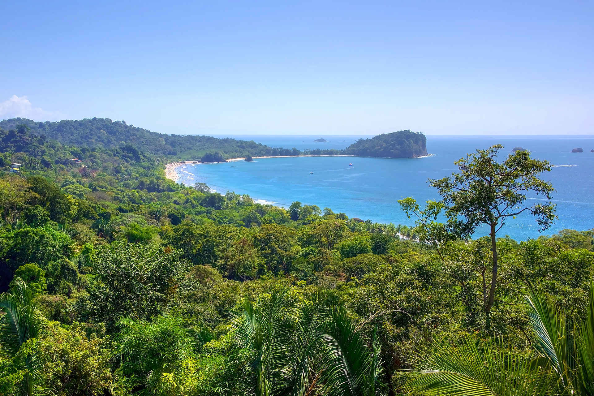 aerial view of Costa Rica; Courtesy of PAUL ATKINSON/Shutterstock.com