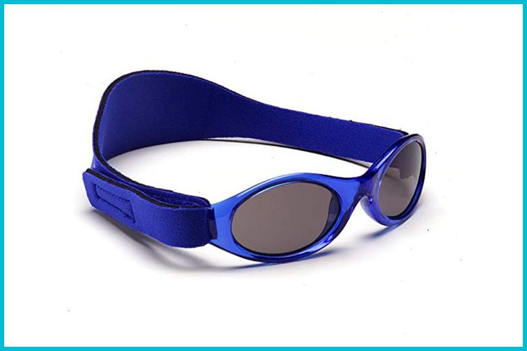 Blue Baby Banz Sunglasses With Strap; Courtesy of Amazon