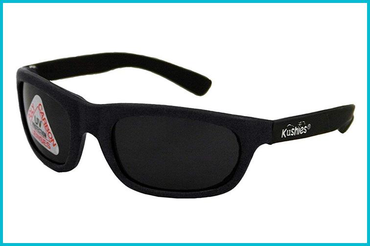 black sunglasses for babies by Kushie's; Courtesy of Amazon