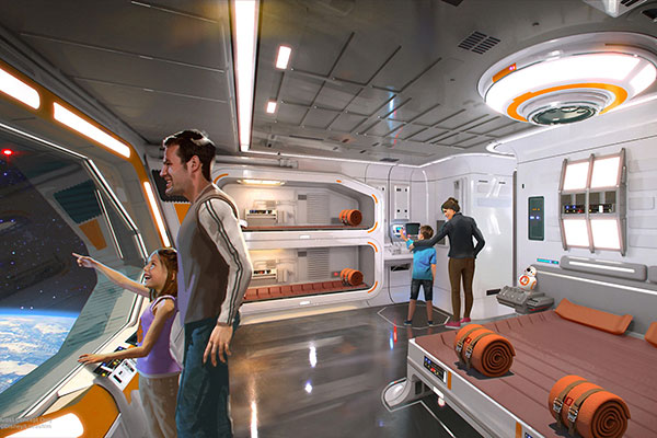 A rendering of the Star Wars-themed hotel set to hit Disney World in the coming years.