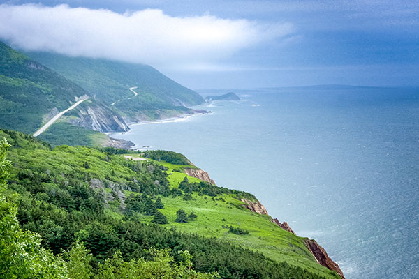 Cape Breton Highlands National Park in Nova Scotia, Canada.